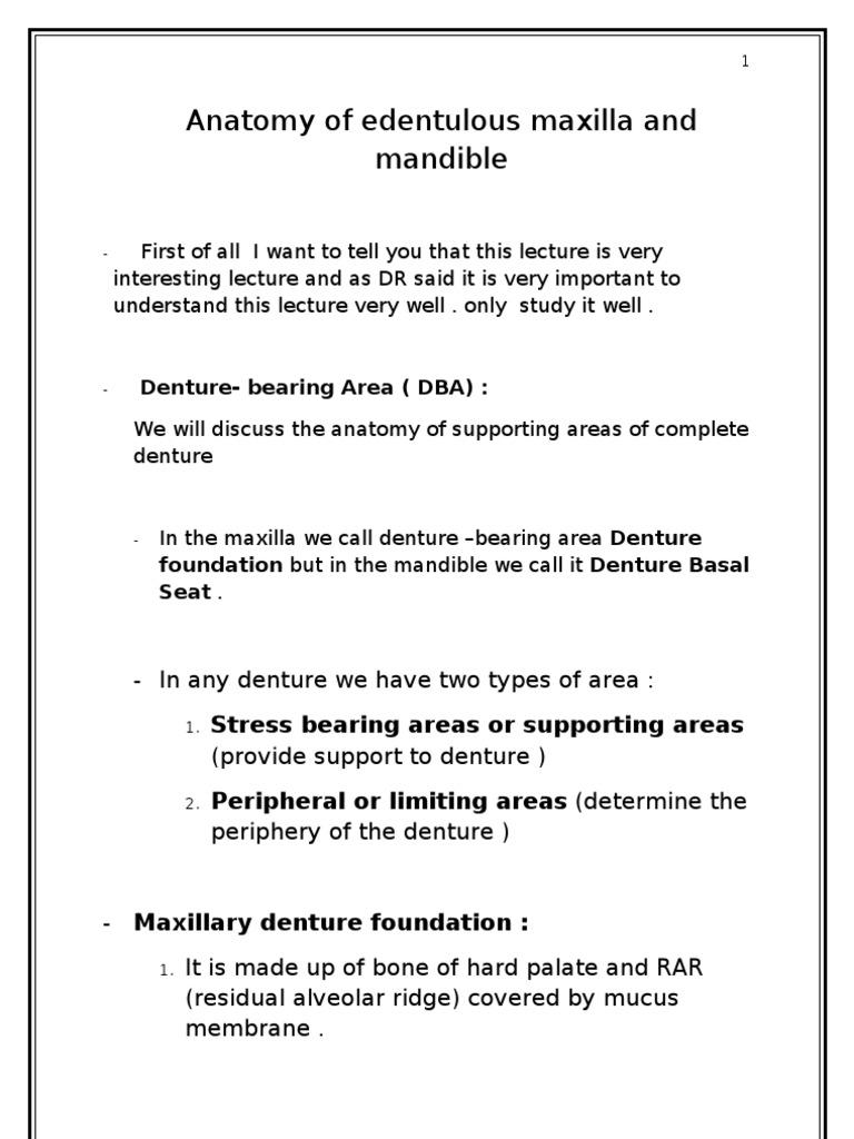 2) Anatomy of Edentouls Maxilla and Mandible | Dentures | Human Anatomy