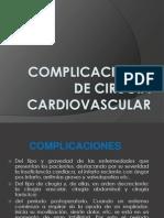 Complicaciones de Cirugia Cardiovascular