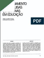 O planejamento de pesquisa qualitativa em educação