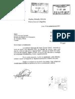Carta de Nadine Heredia a Carlos Herrera Descalzi