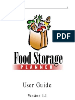 Food Storage Planner Guide