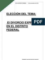 EL DIVORCIO EXPRÉS EN EL DISTRITO FEDERAL