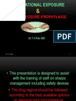Post Exposure Prophylaxis, Occupational exposure