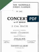J C Bach - Viola Concerto