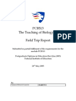 Teaching of Biology Field Trip Report