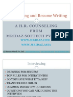 Interviewing and Resume Writing 1
