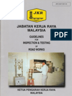 Guideline for Inspection and Testing of Roadworks - JKR 20407-0001-90