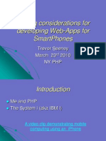 PHP Mobile Web Development for Smart Phones iPhone