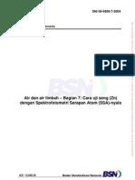 8052_SNI 06-6989.7-2004 v Cara Uji Zn Dengan AAS Dalam Air