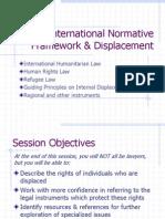 International Normative Framework & Displacement