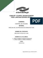 Proyecto Unidad 2 Analisis de Los Procesos de Manufactura