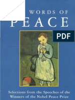 the Words of Peace Selections From the Speeches of the Nobel Prize Winners of the Twentieth Century Third Edition