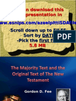 Textual Criticism, Ms Power Point 2003