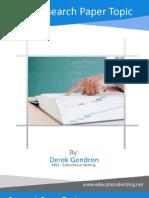 eBook Research Paper Topic