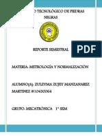REPORTE SEMESTRAL DE METROLOGÍA