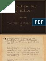 How We Got the Bible 12-12-07 8am