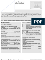 PDResearch Website Development Wireframes