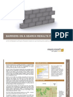Barriers on a Search Results Page