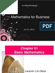 MB101-M8 Chapter 01 Basic Mathematics