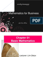 MB101-M8 Chapter 01 Basic Mathematics