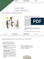 Taxnews Amendments to Cyprus Tax Laws Sept 2011