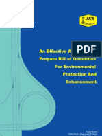 Arahan Teknik (Jalan) 16-03 - An Effective Approach to Prepare Bill of Quantities for Environmental Protection
