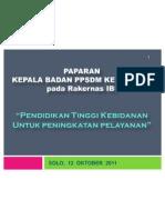 13.30 - 15.00 PPSDM - Pendidikan Tinggi Kebidanan Untuk Peningkatan Kualitas Pelayanan