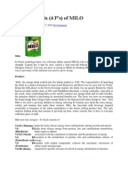 milo malaysia marketing plan This will also be accompanied by âstrong marketing nestle to boost marketing budgets along with malaysia expansion plans nestle malaysia is set to spend.