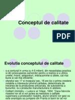Curs 1 - Conceptul de Calitate