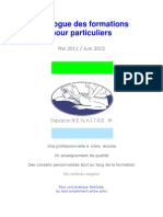 Catalogue Formation Massage Particuliers 2011 12