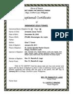 Baptismal Certificate 1