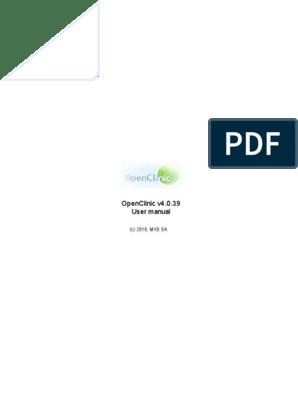 Open Clinic Manual En | Web Browser | Login