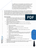 System Admin Checklist