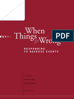 When Things Go Wrong - Responding to Adverse Events