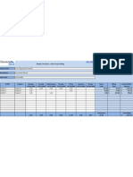 TimeSheet Weekly Time and Billing by Project Template