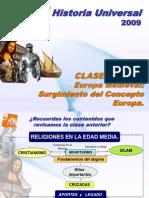 CLASE HU 7 El Concepto de Europa en La Edad Media.