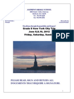 2012 NYC Packet With Itinerary