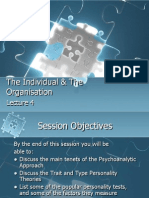 The Individual & the Organisation-Part 1-Lecture 4