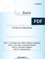 Burs July 2011 Tax Deductions Tables