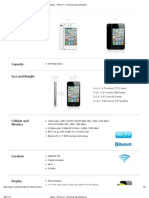 Apple - iPhone 4 - Technical Specifications