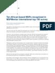 Ten African-Based MSPs Recognised in MSPMentor International Top 100 Survey ITweb_msp Awards _21 Feb 2011