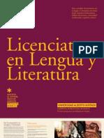 LICENCIATURA EN LENGUA Y LITERATURA 2012 - UAH