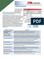 CYA Smart Recovery for EMC Document Um Datasheet