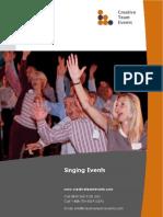 Team Singing Brochure