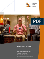Drumming Events Brochure