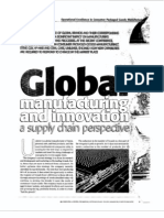 Global manufacturing and innovation A supply chain perspective
