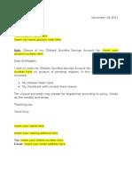 Citibank Suvidha Account Closure Letter