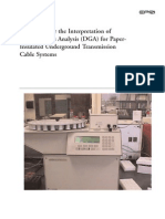 Cables - Guidelines for the Interpretation of DGA for Paper-Insulated Underground Transmission Cable Systems