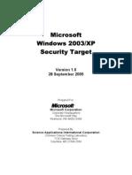 Windows 2003 XP Security Target