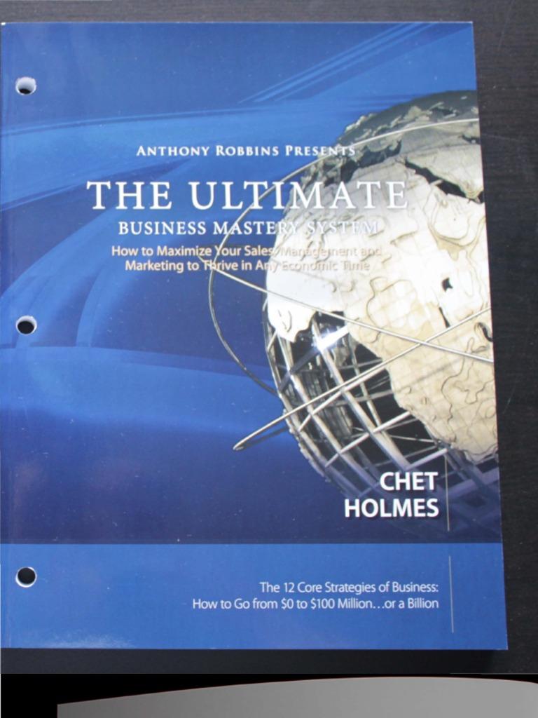 Chet Holmes UBMS Workbook
